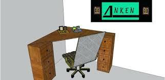 bureau des es bureau d angle bois massif secretaire direction asset en