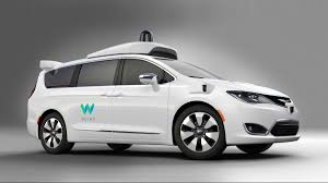 family car side view self driving chrysler pacifica