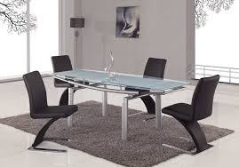 Silver Dining Room Set by Global Furniture Usa 88 Glass Dining Table Frosted Leg Gf D88dt