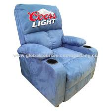 light blue recliner chair china faux leather push back recliner chair high density foam wood