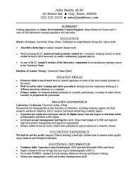 Lab Experience Resume Tech Resume Template Entry Level It Support Resume Template It Cv