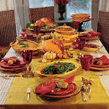 Nice Table Decoration Thanksgiving Table Decoration Ideas In Bright Red And Orange With