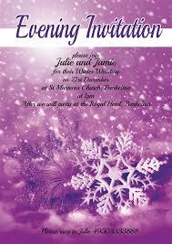 Snowflake Wedding Invitations Purple Snowflake Wedding Invitations
