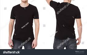 tshirt template front back view mock stock photo 725375065