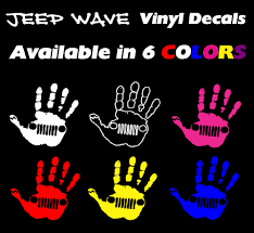 jeep wave stickers official jeep wave vinyl decal