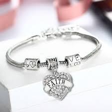 faith gifts fashion heart clear faith gifts bracelets family friend