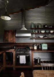 Galvanized Tin I Much Prefer Vertical To Horizontal Placement Of - Corrugated metal backsplash