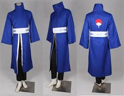 Naruto Halloween Costumes Adults Naruto Sasuke Cosplay Blue Coat Kimono Obito Uchiha Costume
