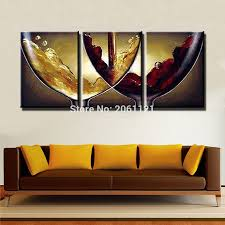 hand paint ideas kitchen decorative oil paintings on canvas wine