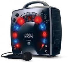 karaoke machine with disco lights childrens black party singing karaoke machine 3 cdg portable disco