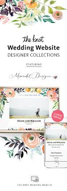 wedding websites registry the knot wedding website designer collection all in one registry