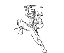 deadpool coloring pages shooting coloringstar
