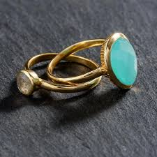 natural stone rings images 925 sterling silver natural stone rings 2pcs fama collection jpg