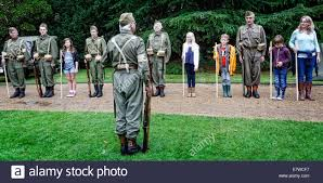 civil defenders home guard living history group run an educational