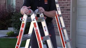 A Frame Ladder Lowes by Alta One With Work Platform Demo From Little Giant Ladder Systems
