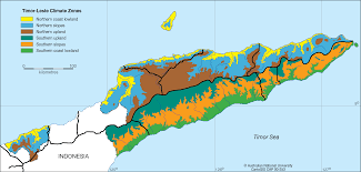 Climate Map Timor Leste Climatic Zones Cartogis Services Maps Online Anu