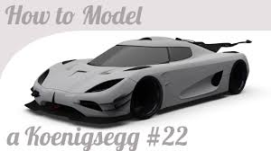 koenigsegg white carbon fiber 3d car modeling tutorial pt 22 koenigsegg one 1 smoothing