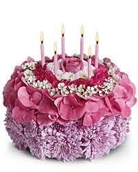 birthday flower cake your special day flower arrangement teleflora