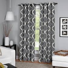 semi opaque luna charcoal linen look window curtain 52 in w x