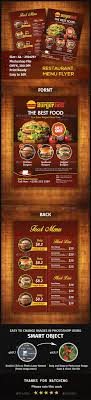 flyer menu template 479 best restaurant flyer templates images on font logo