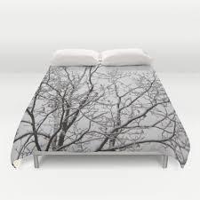 Black And White Twin Duvet Cover Duvet Cover Comforter Cover Winter Tree Branches White Black