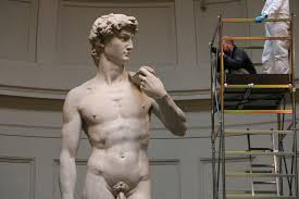 michelangelo david sculpture david gets dusted as routine maintenance