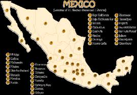 map of mexico with states map of mexican states