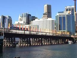 monorail darling harbour sydney wallpapers sydney monorail train at pyrmont bridge 2 perspectives dv 4 3