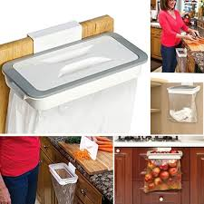 kitchen food storage cupboard kitchen accessories trash bag storage rack cupboard kitchen bathroom hanging holders trash toys supplies food containers kitchen