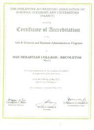 office of accreditation planning and development san sebastian