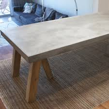 concrete top bar table tremendeous concrete table top in dining ideas design writers bloc