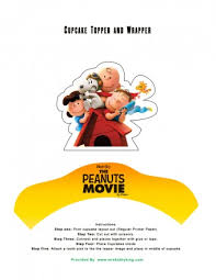 free peanuts movie printable party decoration pack