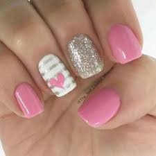 55 super easy nail designs nail stripes accent nails and pink nails
