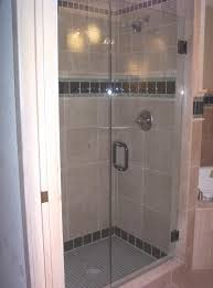 Stall Door Minimalist Bathroom With Tempered Glass Frameless Stall Door And