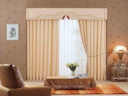 Unique Living Room Curtains Interior Cream Curtain With Valance And White Overblind Combined