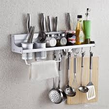 Spice Rack For Wall Mounting 2017 Wall Mounted Kitchen Spice Rack Utensil Pot Pan Hanger