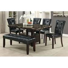 amb furniture 6 pc arenth collection espresso finish wood faux