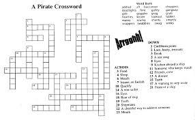 pirate crossword free teaching tool for u201ca pirate u0027s guide to