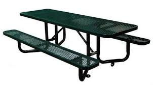 ada picnic table expanded metal thermoplastic steel 8 foot
