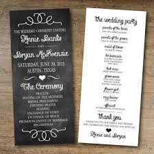 ceremony program template chalkboard wedding program free printable wedding program