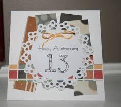 13th anniversary ideas anniversary card