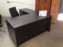 Espresso Desk With Hutch L Office Desk Images About Desks On Pinterest Reception Desks L