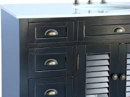 Cottage Bathroom Vanity Cabinets by Adelina 48 Inch Cottage Black Bathroom Vanity