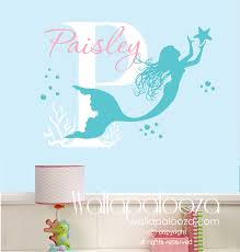 mermaid wall decal nursery wall art custom wall art decal request a custom order and have something made just for you