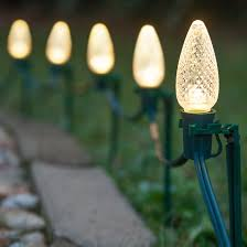 lights c9 warm white led pathway lights
