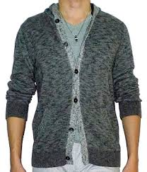 mens sweater hoodie express gray marled button sweater hoodie s fashion for less
