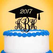 graduation cake toppers monogram graduation cake toppers graduation party favors gifts