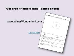 wine tasting using a wine tasting sheet