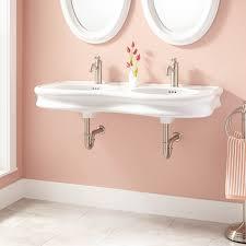 porcelain wall mount sink 46 adler double bowl porcelain wall mount bathroom sink bathroom