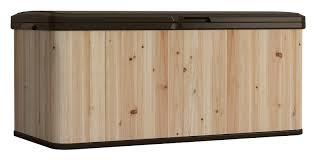 Cedar Dog Bed Suncast 120 Gallon Cedar And Resin Deck Box U0026 Reviews Wayfair